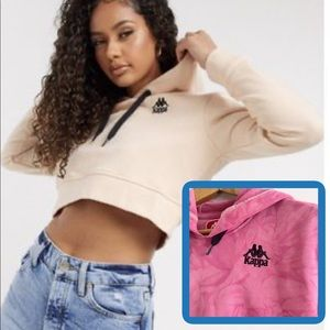 Kappa | Pink Tie-Dyed Zaly Cropped Hoodie